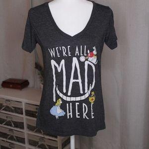 Gray Disney Alice in Wonderland T-shirt